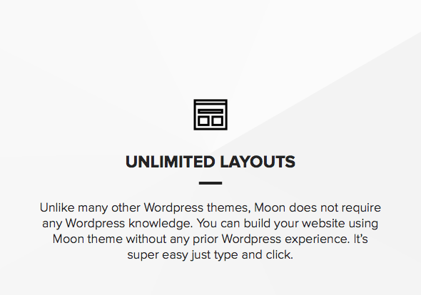 Theme for photographers with unlimited layouts