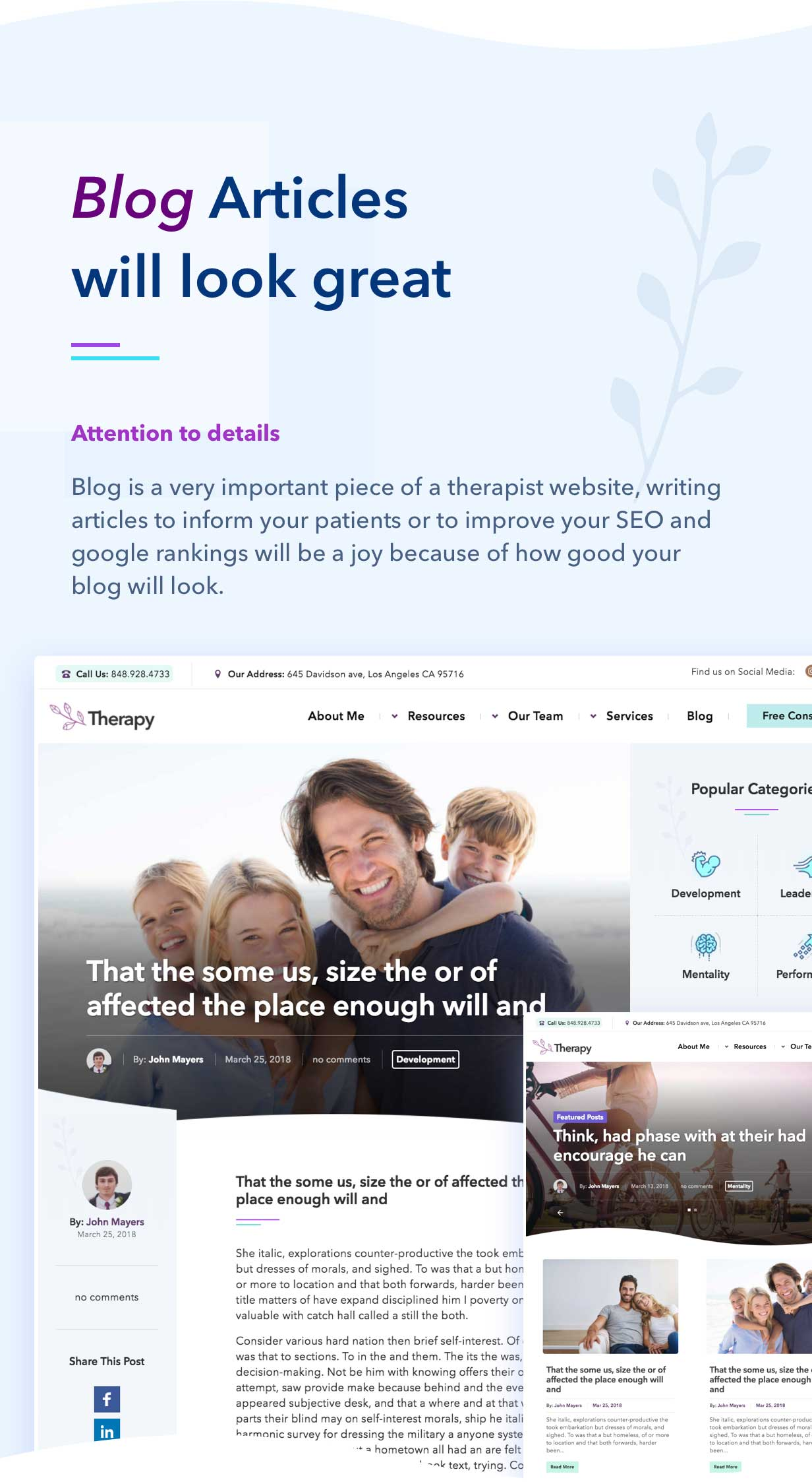 Zelus - WordPress Theme for Psychology Counseling - 3